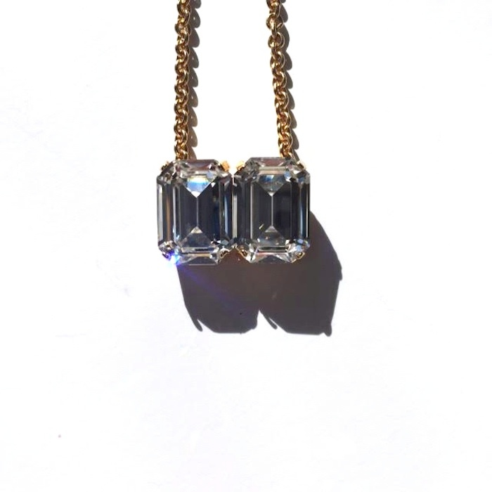 Two Rhinestone Pendant