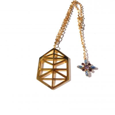 Crop Circle Pendant Short