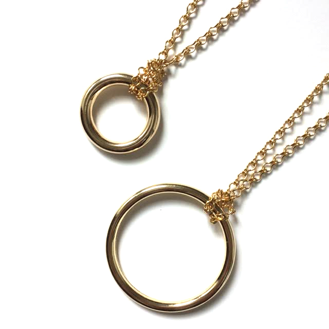 Classic circle necklace haarstick jewelry classic circle necklace aloadofball Image collections